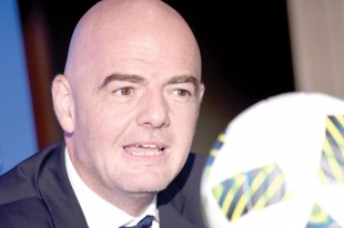 India moving from sleeping to passionate giants: Infantino