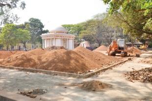 Azad Maidan beautification incomplete; CCP blames GSIDC