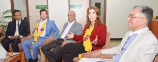 Portuguese tourism secretary  visits Salgaocar institute