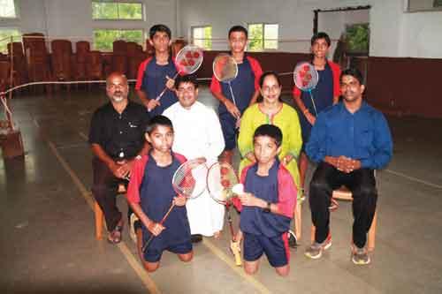CHAMPIONS:  Saint Xavier Vidyalaya, Maina - Korgao, emerged winners at Pernem Taluka U-14 Boys Badminton tournament organised by DSYA at Peddem Sports Complex recently.