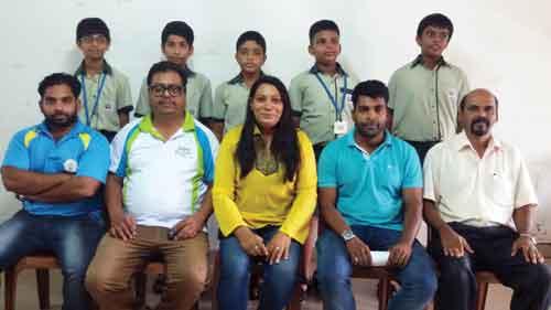 WINNERS: Bhatikar Model High School U-14 Boys secured 1st place at district level chess organised by DSYA.