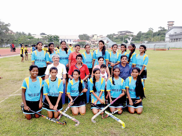 St Anthony's HS Monte de Guirim drubbed Our Lady of Rosary HS, Dona Paula by 11-0 margin, to enter the state final of the North District Mini Secondary schools U-17 Girls Hockey, organised by DYSA, at Peddem Sports Complex ground, on Tuesday.