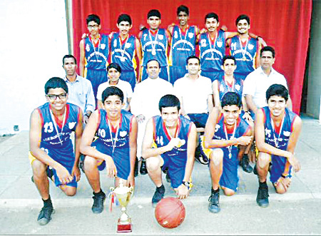 Kings of the court: Don Bosco HS, Panjim, emerged State champions for the fifth consecutive year in the  inter-school U-17 boy's basketball tournament, organized by DSYA. Standing (left to right): Benedito, Samuel, Keenan, Gyles, Joshua, George. Sitting