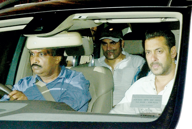 Guilty as charged: Salman Khan leaves the Sessions Court after the High Court granted him interim bail of two days in Mumbai on Wednesday