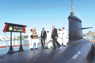 PM commissions submarine Kalvari