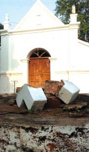 Cross damaged at Arlem