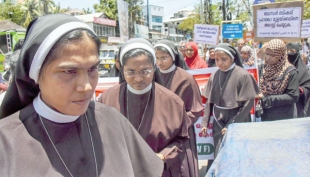 Nun seeks justice from Vatican; accused Bishop says charges concocted