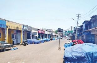Mapusa market merchants down shutters