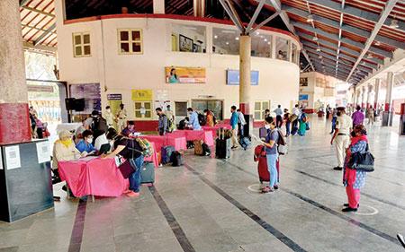 278 disembark at Margao Railway Station
