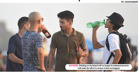 It's fine to impose 10k for beach drinking bit who will.impose it?