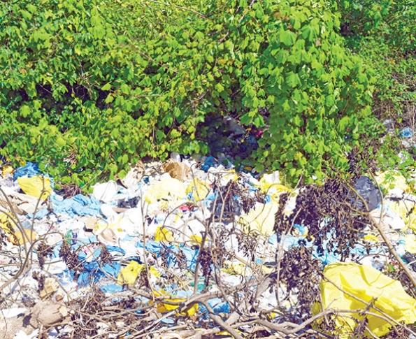 Mound of bio-medical waste creating environmental crisis