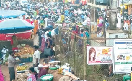 Ponda Market majorly violates ongoing curfew