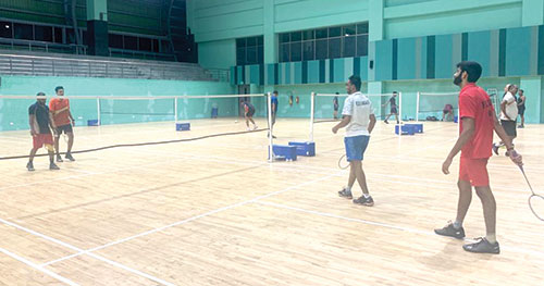Badminton players resume training as Indoor sports complexes open up